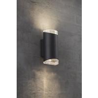 Nordlux Wandlamp Tweezijdig - Wandlamp Buiten Zwart - GU10 Fitting IP44 - Arn