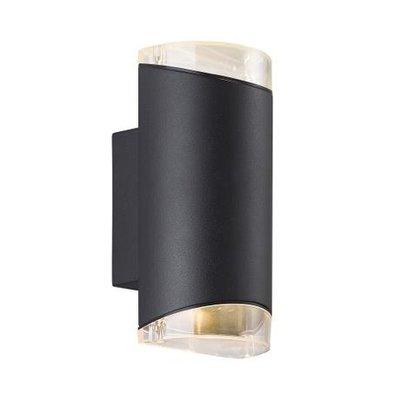 Wandlamp Tweezijdig - Wandlamp Buiten Zwart - GU10 Fitting IP44 - Arn
