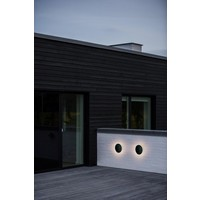 Nordlux LED Wandlamp Buiten Zwart - Wandlamp Cirkel 8Watt - IP54 - Artego