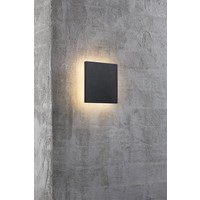 Nordlux LED Wandlamp Buiten Zwart - Wandlamp Vierkant 8Watt - IP54 - Artego
