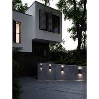 Nordlux LED Wandlamp Buiten Tweezijdig Zwart - 6,5W LED IP44 - Asbol