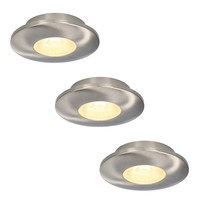 Lightexpert.nl LED inbouwspot RVS - Pavo - 3W - IP44 - 2700K - Dimbaar