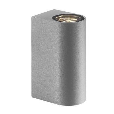 LED Wandlamp Buiten Grijs- Tweezijdig - 3000K -  6,5W - Asbol