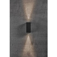 Nordlux LED Wandlamp Buiten Zwart- Tweezijdig - 3000K -  6,5W - Asbol Kubi