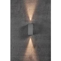 Nordlux LED Wandlamp Buiten Grijs- Tweezijdig - 3000K -  6,5W - Asbol Kubi