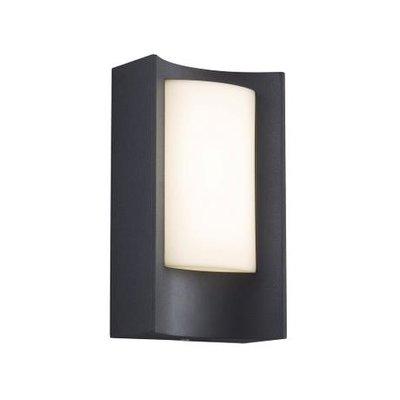 LED Wandlamp Buiten Zwart-  3000K -  6W - Aspen