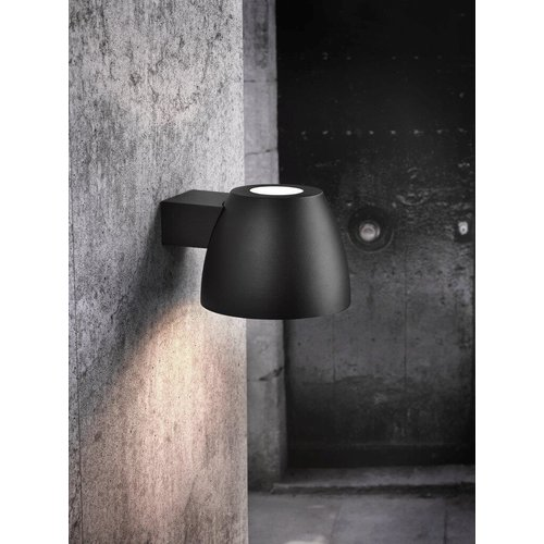 Nordlux LED Wandlamp Buiten Zwart-  E27Fitting - Bell