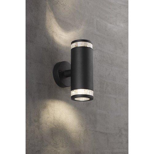 Nordlux Wandlamp Buiten Tweezijdig Zwart-  GU10 Fitting - Birk