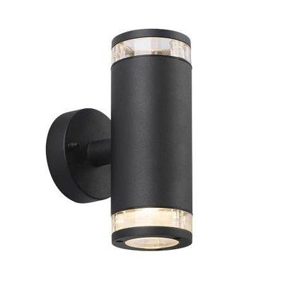 Wandlamp Buiten Tweezijdig Zwart-  GU10 Fitting - Birk