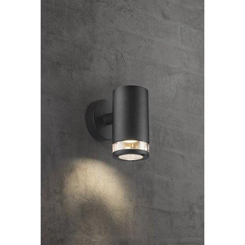 Nordlux LED Wandlamp Buiten Zwart-  GU10 Fitting - Birk