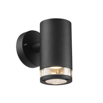 LED Wandlamp Buiten Zwart-  GU10 Fitting - Birk