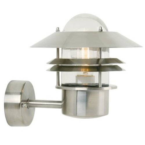 Nordlux LED Wandlamp Buiten Roestvrij Staal-  E27 Fitting - Blokhus