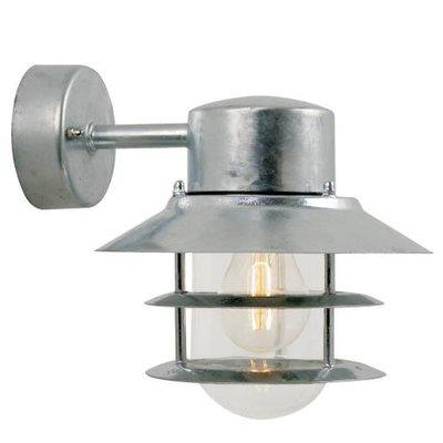 LED Wandlamp Buiten Verzinkt-  E27 Fitting - Blokhus Down