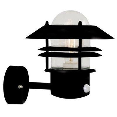 LED Wandlamp Buiten Sensor Zwart-  E27 Fitting - Blokhus