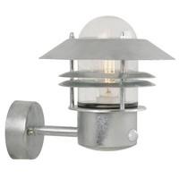 Nordlux LED Wandlamp Buiten Gegalvaniseerd Sensor-  E27Fitting - Blokhus