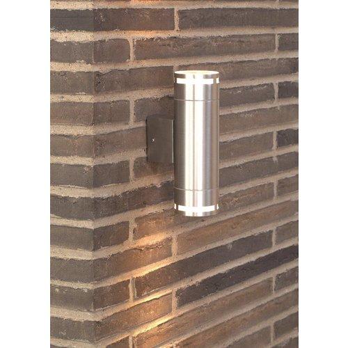 Nordlux LED Wandlamp Buiten Zilver - GU10Fitting - Can Maxi