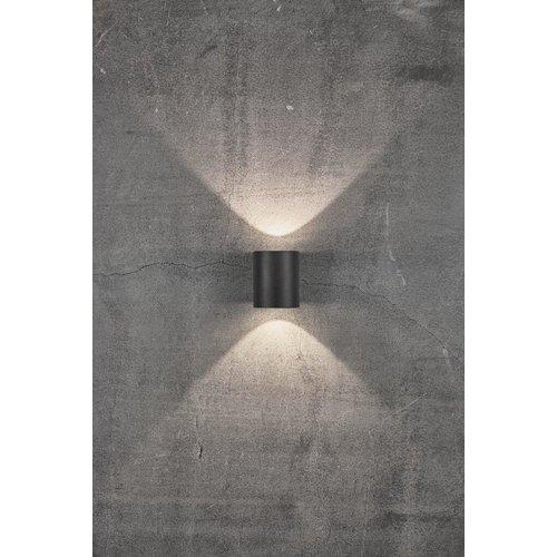 Nordlux LED Wandlamp Buiten Tweezijdig Zwart - 2700k - 2x6Watt LED - Canto 2