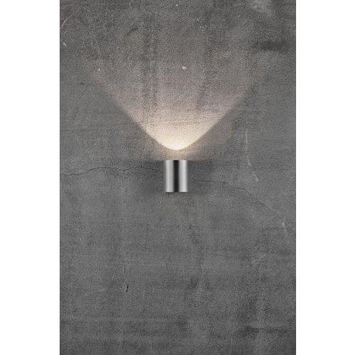 Nordlux LED Wandlamp Buiten Tweezijdig Roestvrijstaal - 2700K - 2x6Watt LED - Canto 2