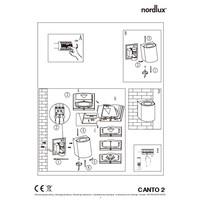 Nordlux LED Wandlamp Buiten Tweezijdig Messing - 2700K - 2x6Watt LED - Canto 2