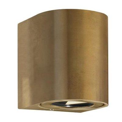 LED Wandlamp Buiten Tweezijdig Messing - 2700K - 2x6Watt LED - Canto 2