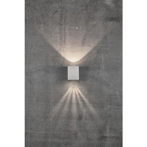 Nordlux LED Wandlamp Buiten Tweezijdig Wit - 2700k - 2x6Watt LED - Canto Kubi 2