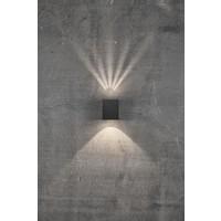 Nordlux LED Wandlamp Buiten Tweezijdig Zwart - 2700K - 2x6Watt LED - Canto Kubi 2