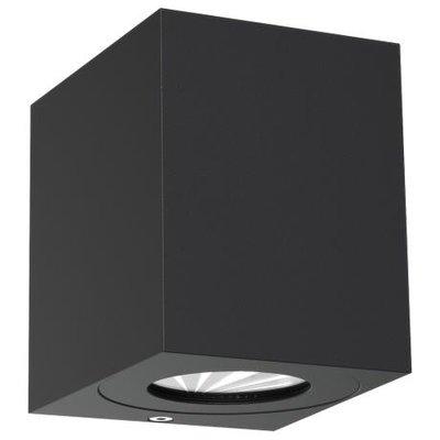 LED Wandlamp Buiten Tweezijdig Zwart - 2700K - 2x6Watt LED - Canto Kubi 2