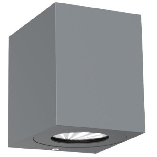 Nordlux LED Wandlamp Buiten Tweezijdig Grijs - 2700K - 2x6Watt LED - Canto Kubi 2