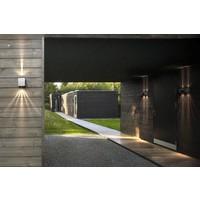 Nordlux LED Wandlamp Buiten Tweezijdig gegalvaniseerd - 2700K - 2x6Watt LED - Canto Kubi 2