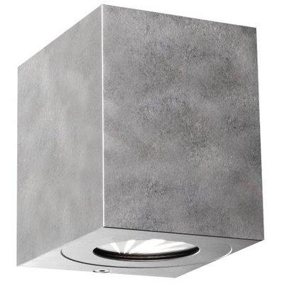 LED Wandlamp Buiten Tweezijdig gegalvaniseerd - 2700K - 2x6Watt LED - Canto Kubi 2