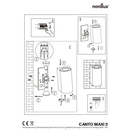 Nordlux Wandlamp Buiten Tweezijdig Wit - GU10Fitting- Canto Maxi 2