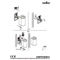 Nordlux Wandlamp Buiten Tweezijdig Gegalvaniseerd - GU10Fitting- Canto Maxi 2