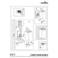 Nordlux Wandlamp Buiten Tweezijdig Zwart - GU10Fitting- Canto Maxi Kubi 2