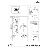 Nordlux Wandlamp Buiten Tweezijdig Gegalvaniseerd - GU10Fitting- Canto Maxi Kubi 2