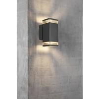 Nordlux Wandlamp Buiten Tweezijdig Zwart -IP44  GU10 Fitting- Elm