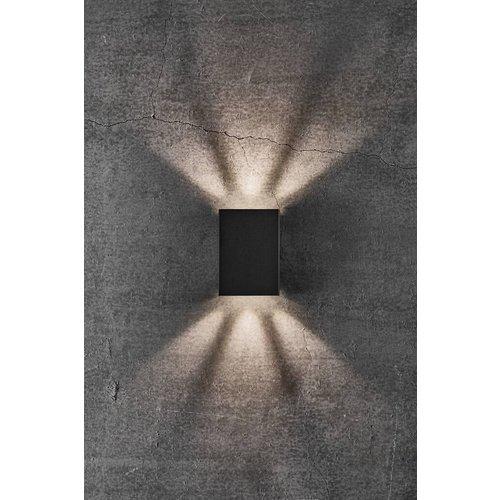 Nordlux LED Wandlamp Buiten Zwart - 2x3,5W LED - 3000K - Fold 10