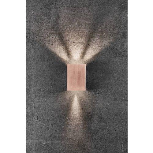 Nordlux LED Wandlamp Buiten Koper - 2x3,5W LED - 3000K - Fold 10