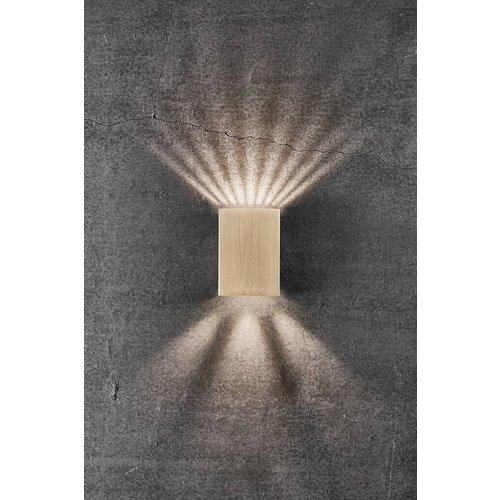 Nordlux LED Wandlamp Buiten Messing - 2x3,5W LED - 3000k - Fold 10