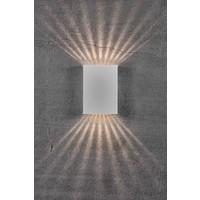 Nordlux LED Wandlamp Buiten Wit - 2x3,5W LED - 3000K - Fold 15