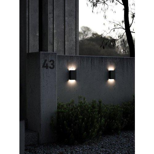 Nordlux LED Wandlamp Buiten Zwart - 2x3,5W LED - 3000K - Fold 15