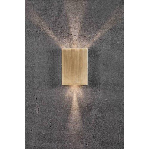 Nordlux LED Wandlamp Buiten Messing - 2x3,5W LED - 3000K - Fold 15
