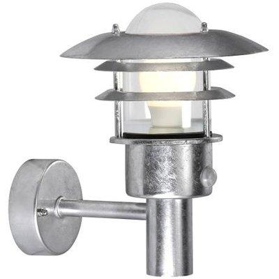 Wandlamp Buiten Sensor Gegalvaniseerd - E27 Fitting - IP44 - Lønstrup 22 Sensor