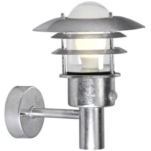 Nordlux Wandlamp Buiten Sensor Gegalvaniseerd - E27 Fitting - IP44 - Lønstrup 22 Sensor