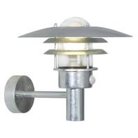 Nordlux Wandlamp Buiten Sensor Gegalvaniseerd - E27 Fitting - IP44 - Lønstrup 32 Sensor