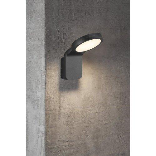 Nordlux LED Wandlamp Buiten Zwart - 10W LED IP44 - Marina Flatline