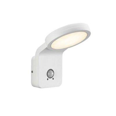 LED Wandlamp Buiten Wit - 10W LED IP44 - Marina Flatline Pir Sensor