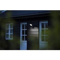 Nordlux LED Wandlamp Buiten Zwart - 10W LED IP44 - Marina Flatline Pir Sensor