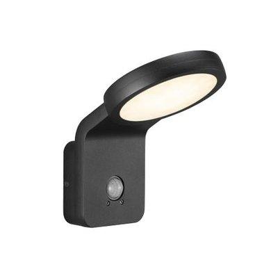 LED Wandlamp Buiten Zwart - 10W LED IP44 - Marina Flatline Pir Sensor
