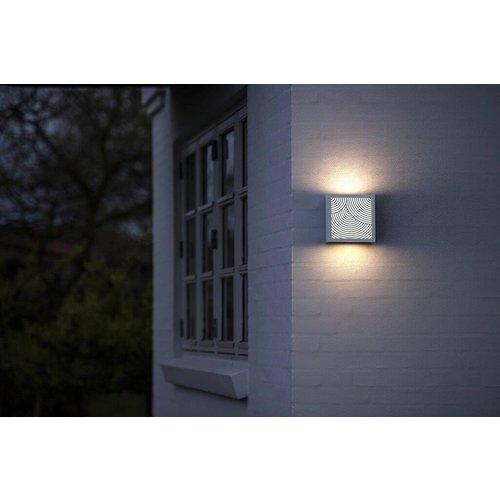 Nordlux LED Wandlamp Buiten Wit - 10Watt LED IP44 -Maze Bended