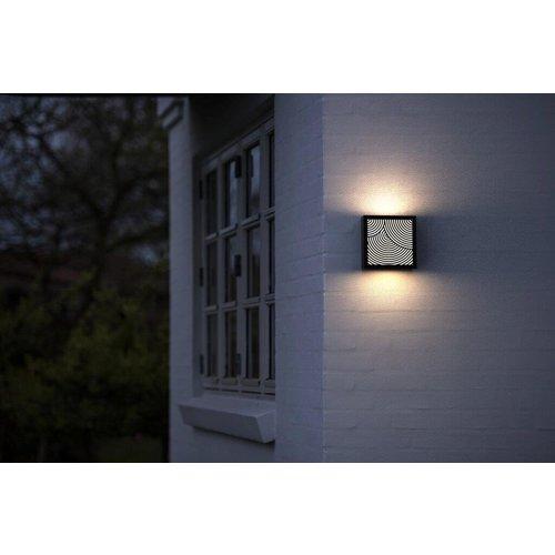 Nordlux LED Wandlamp Buiten Zwart - 10Watt LED IP44 -Maze Bended